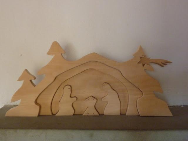 Relief Krippe Weihnachten