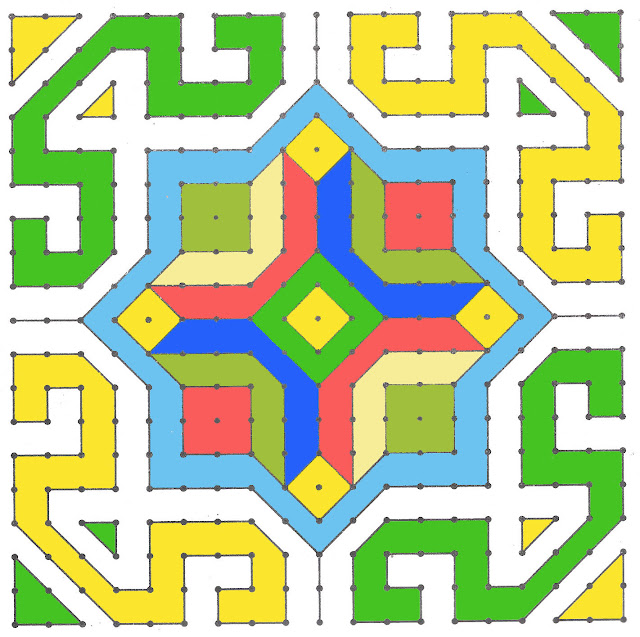 dot rangoli designs for diwali