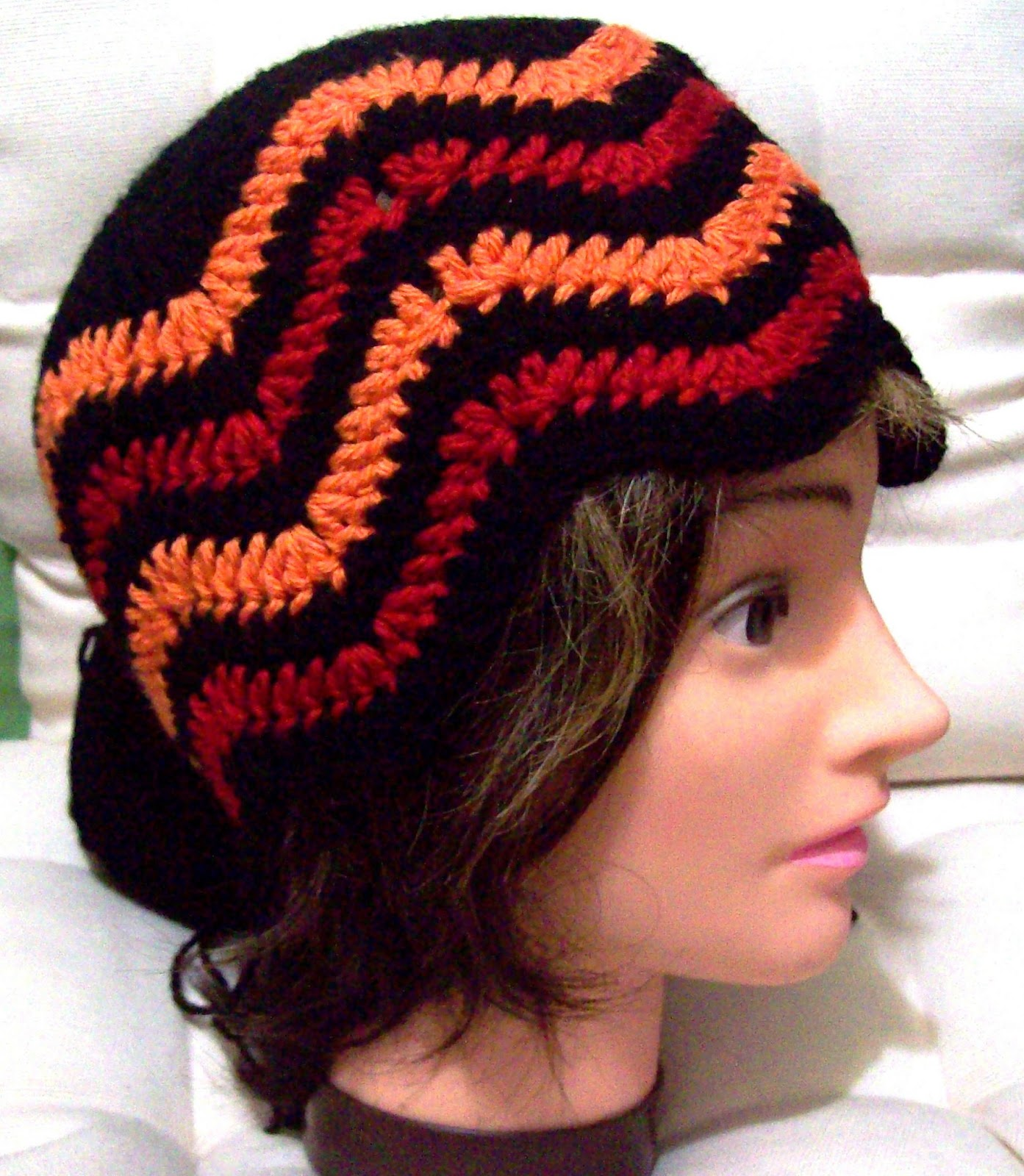 how to crochet a chevron hat