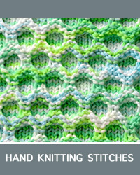 Learn Honeycomb Slip Stitch Pattern with our easy to follow instructions at HandKnittingStitches.com