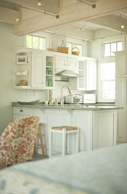 Pale Green Laundry Room