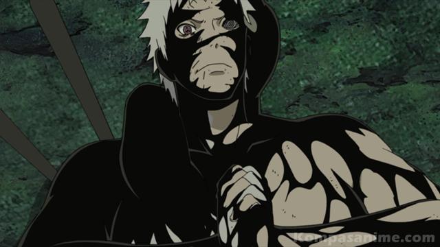 setelah melekat di tubuh Obito, Zetsu hitam dapat menggunakan rinnegan