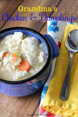 Grandma Haydon's Chicken and Dumplings recipe from Served Up With Love