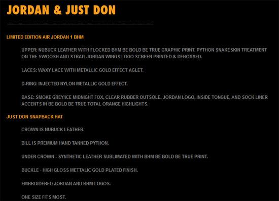 2500c31697ba41 ... the Enjoy the official images below of the Just Don x Jordan Brand Air  Jordan 1 Retro nike air jordan 1 bhm ...