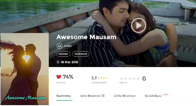 Awesome Mausam (2016) Hindi Full DvDRip Movie Free 300Mb