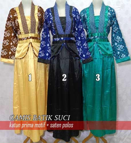 Model Baju Batik Gamis Grosir Batik Pekalongan Baju Gamis Batik
