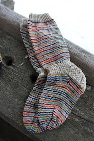 raitasukat, räsymattosukat, sukat nalle langasta