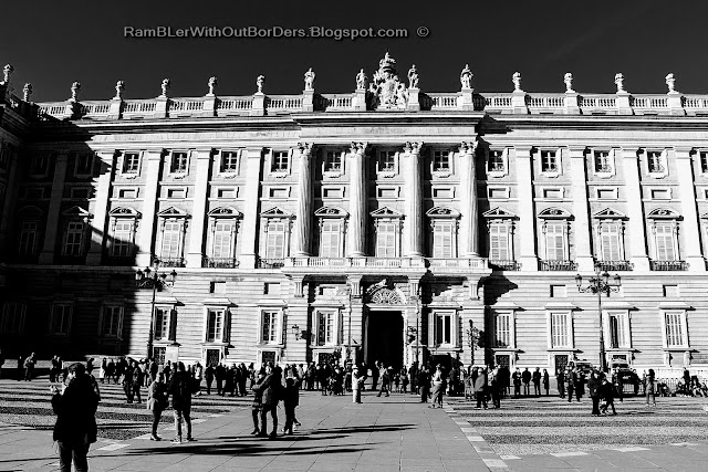 Facade, Royal Palace, Madrid, Spain