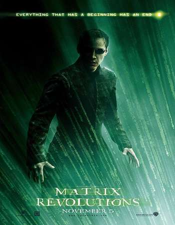 The Matrix Revolutions 2003 Hindi Dual Audio 600MB BluRay 720p ESubs HEVC