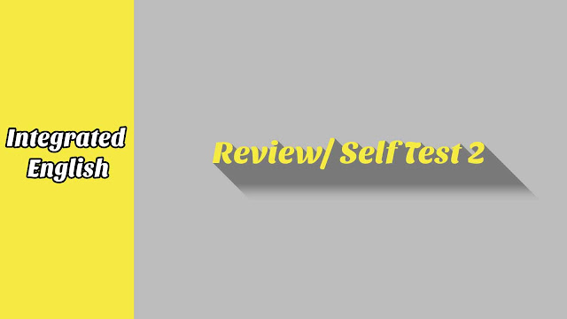 Review/ Self Test 2