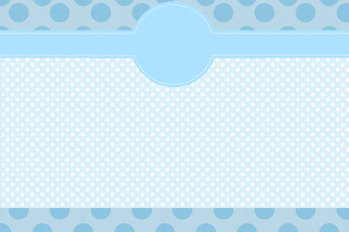 Light Blue and Polka Dots Free Printable Invitations, Labels or Cards.