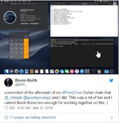 Safari, Virtualbox, VMware trở thành tâm điểm của các vụ tấn công trong ngày đầu tiên của Pwn2Own 2019 - CyberSec365.org