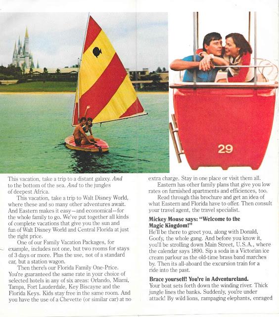 Skyway Walt Disney World Eastern Airlines Guide 1977
