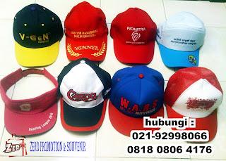 Produksi Topi  promosi, sablon topi, bordir topi, topi perusahaan, Topi Kampanye, Topi Souvenir, Topi  Drill, topi raphel, topi jala, topi jungle, topi adventure, harga topi promosi, jenis topi promosi