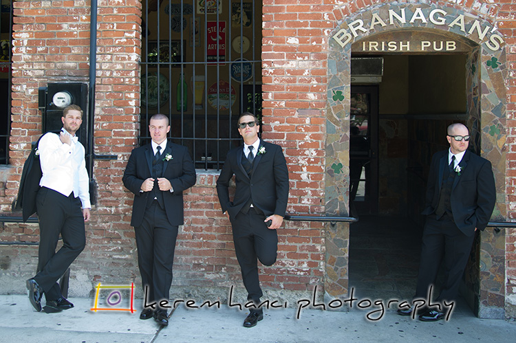 Branagan's Irish Pub in Fullerton was the place of choice for a pre-ceremony refreshments.