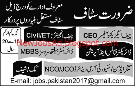 Jobs in Pvt Co, CEO Jobs, Chief Engineer Jobs, Director Finance Jobs