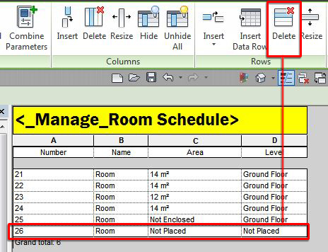 how to put data in schedule in revit