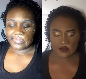 Check in to see how Make-Up Transform this Beautiful Lady with Scars on Her Face