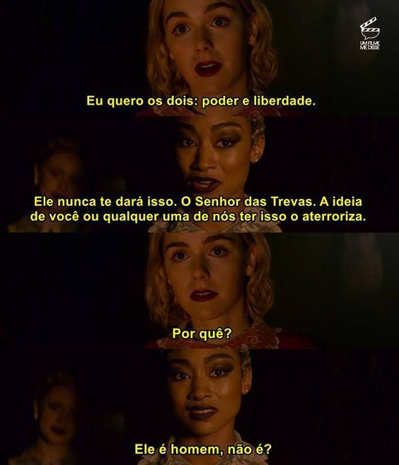 Sabrina e Prudence conversam sobre liberdade e poder