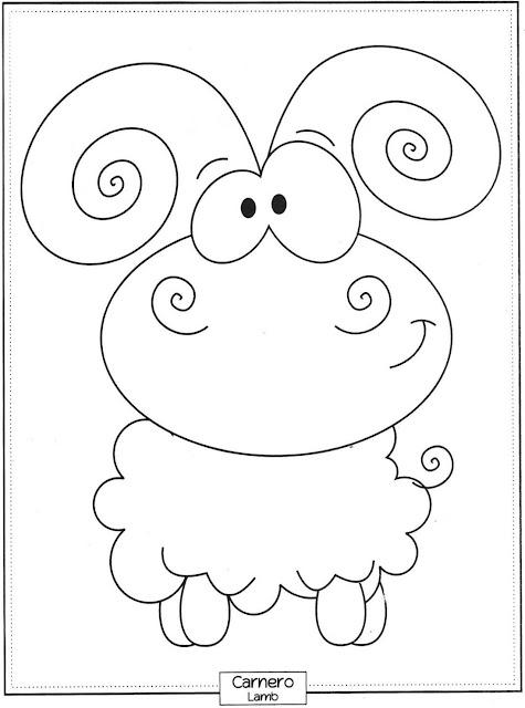 Desenho de Carneirinho para pintar