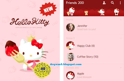 Tema Line Hello Kitty Strawberry Android