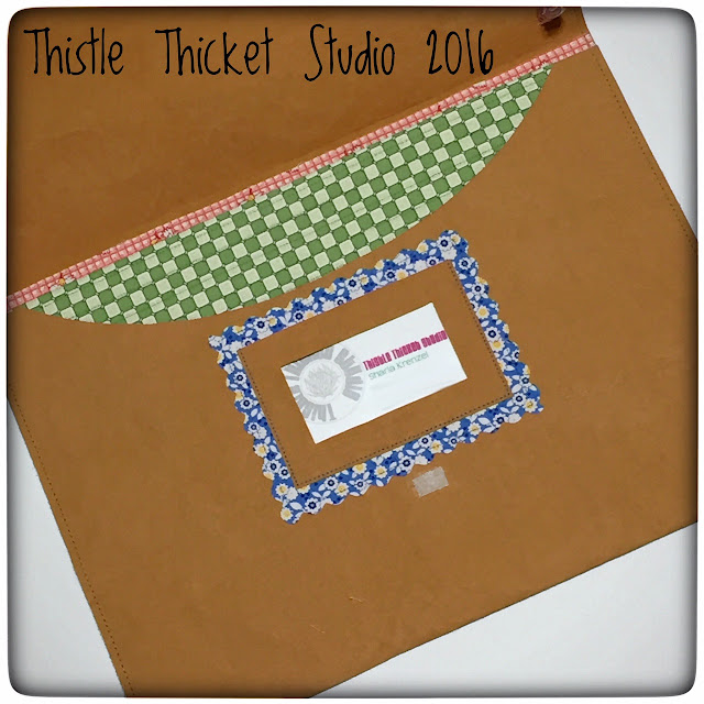 Thistle Thicket Studio, sewing portfolio, Kraft-Tex, diy folder