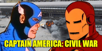 Captain America Civil War Iron Man animated cartoon