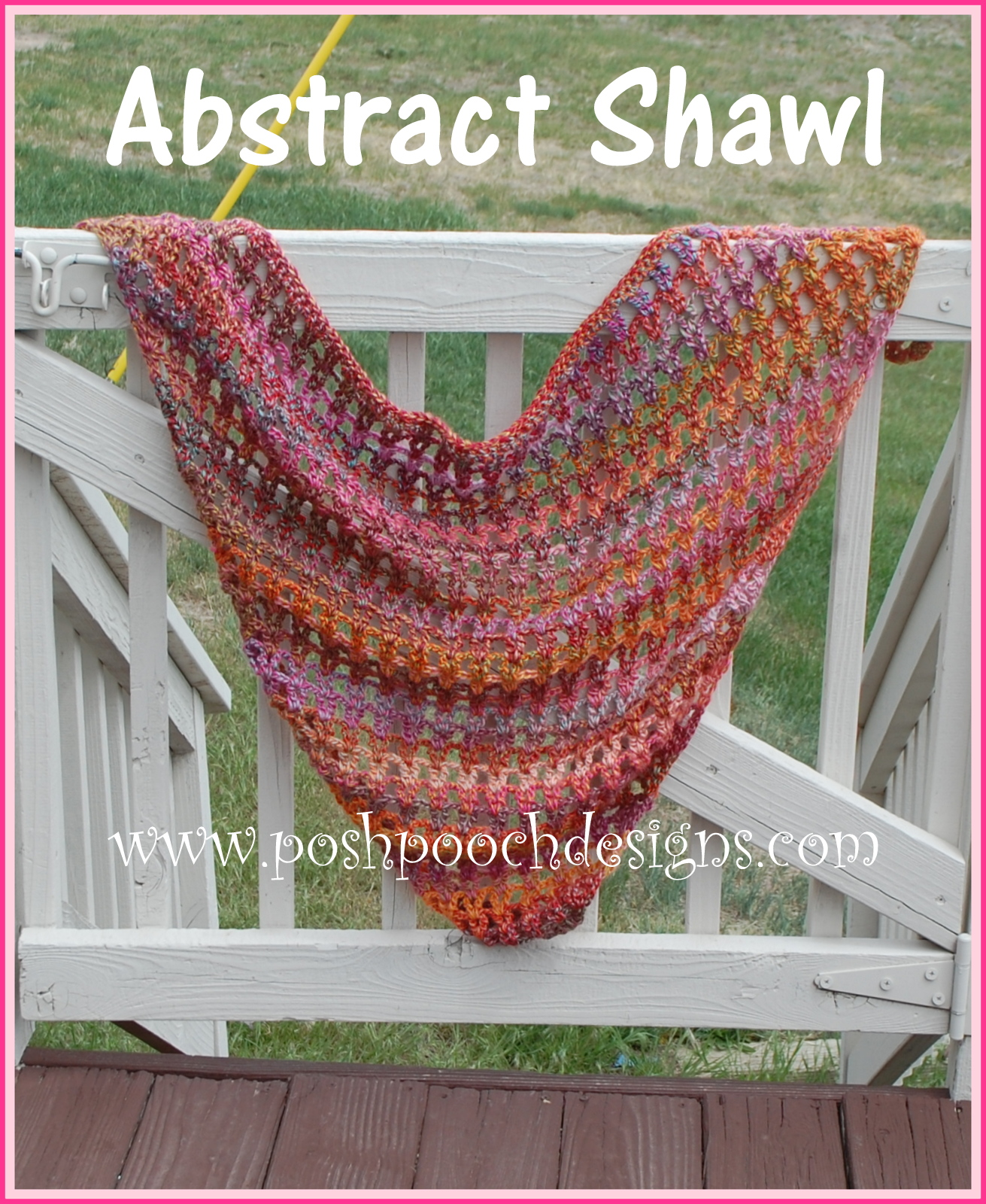 Crochet Patterns Using Caron Cakes : Posh Pooch Designs Dog Clothes: Abstract Shawl Made with ...
