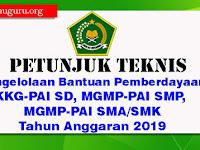 Juknis Pengelolaan Bantuan Pemberdayaan KKG-PAI SD, MGMP-PAI SMP/SMA/SMK Tahun 2019