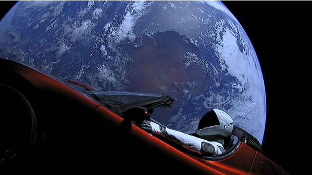Tesla Roadster driven by Starman