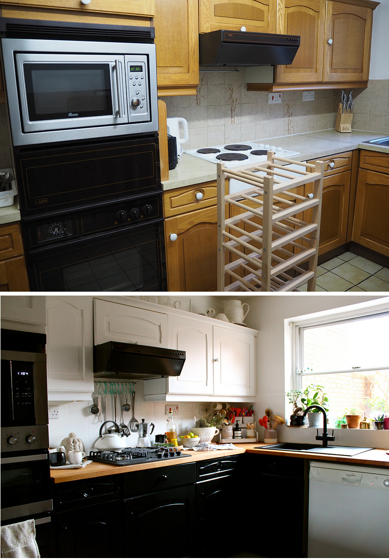 interiors kitchen makeover with b q oyster and pearl uk