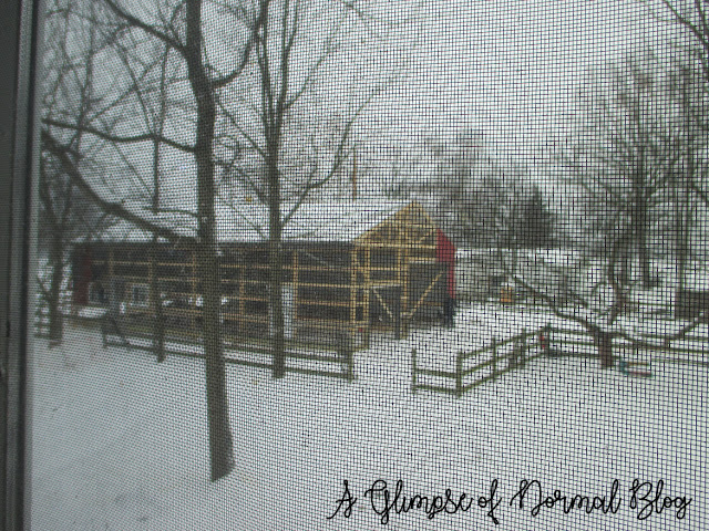 A Glimpse of Normal Blog, A Pole Barn - Part 2, Progress