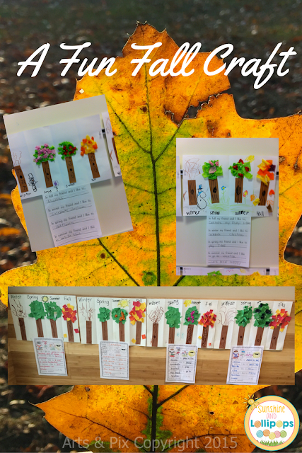 Are you looking for a great fall activity to go along with the changing seasons? If you are, then you will LOVE this craft!  It is my absolute favorite activity for learning about the seasons. Oh and if you are wondering where I got this great Leaf photo, check out Arts n' Pix on TpT!