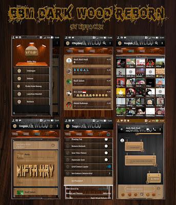 Screenshot BBM Mod Dark Wood Reborn Versi 3.3.4.48 Apk