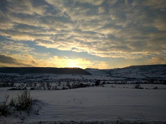 Téli naplemente Alsósófalván