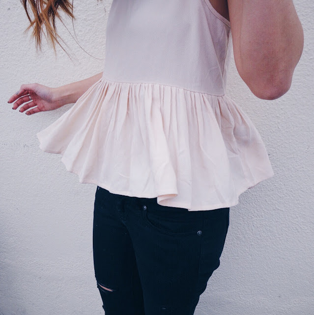 Rose Quartz Peplum Top