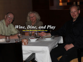 The crew of Wine Dine and Play enjoying a birthday meal at the Council Oak Steakhouse at the Seminole Hard Rock Casino and Hotel in Tampa, Florida