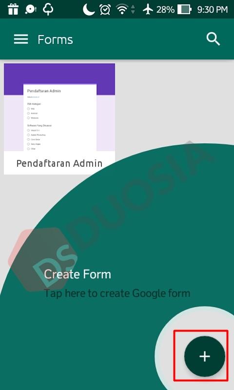 membuat formulir di android
