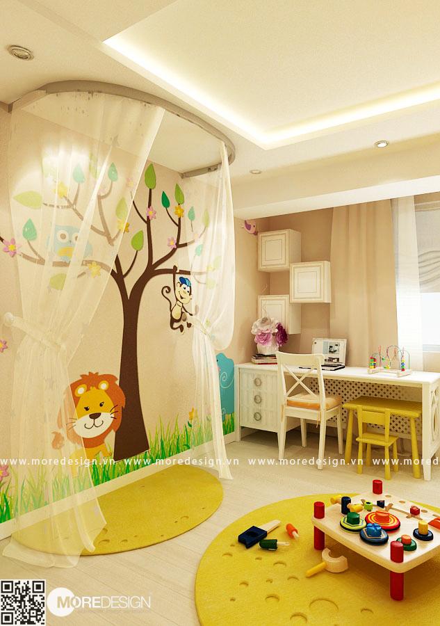 Phòng ngủ cho con đẹp với những thủ pháp trang trí ngộ nghĩnh, dễ thương