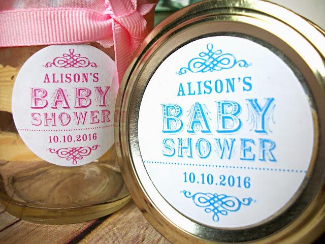 custom baby shower label