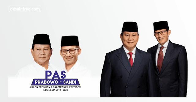 Spanduk Capres Cawapres 2019 Prabowo-Sandi Format CDR