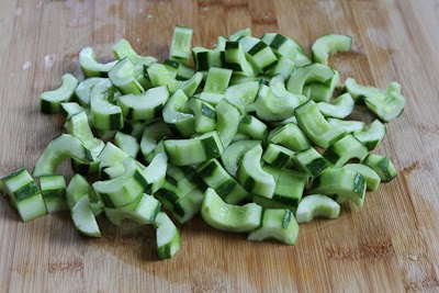 Chinese Cucumber Salad found on KalynsKitchen.com
