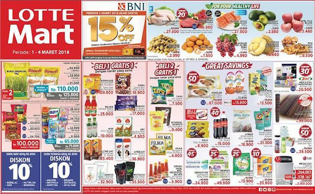 Katalog Promo LOTTEMART Hypermarket Akhir Pekan Periode 01 - 04 Maret 2018