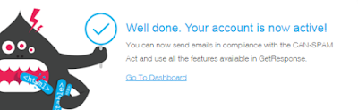 Hoàn thành đăng ký tài khoản GetResponse