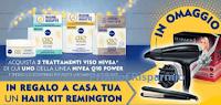 Logo Nivea Q10 Power ti regala Hair kit Remington : premio sicuro direttamente a casa tua !
