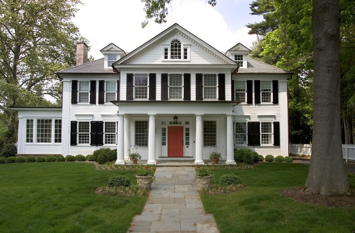 The most popular iconic american home design styles - Colonial style homes interior ...