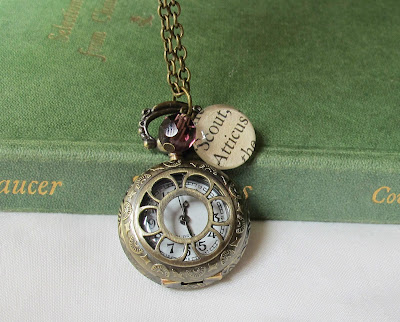 image to kill a mockingbird watch necklace pocket watch atticus finch scout two cheeky monkeys beaded