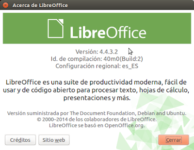 Acerca de LibreOffice