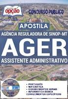 Apostila Concurso AGER 2016 Assistente em Administração