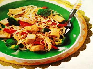 Gambar Resep Spaghetti Tahu Brokoli